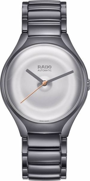 2d8c69b4257 Rado True Face R27236112 Limited Edition Polished Silver Dial Ceramic Case  and Bracelet Men s Watch