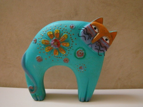 Laurel Burch Cat Figurine 1999 | eBay