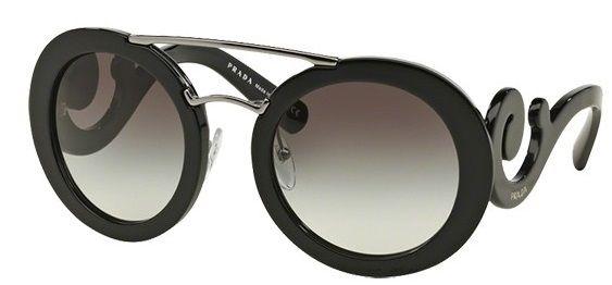 Óculos de sol Prada Baroque Evolution 13SS Preto - PRADA você encontra aqui…
