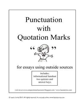 Quotations in essays punctuation
