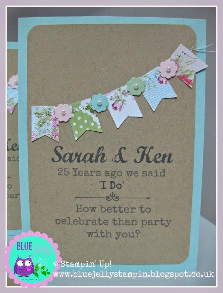 Stampin' Up! Wedding Anniversary Invitations