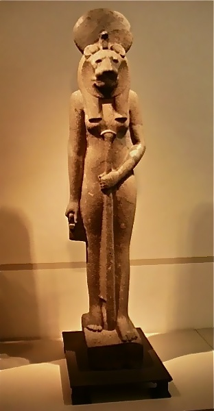 Sekhmet, the warrior goddess of Upper Egypt.  Totemic Form : Lioness.  Altes Museum, Berlin