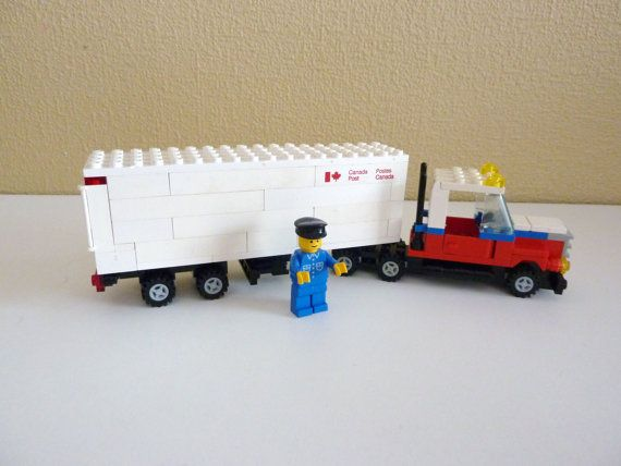Vintage Lego Canada Post Truck  Set 107 from 1985 by vintagememory, $125.00