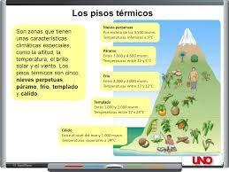 Resultado de imagen para pisos termicos de colombia y sus caracteristicas