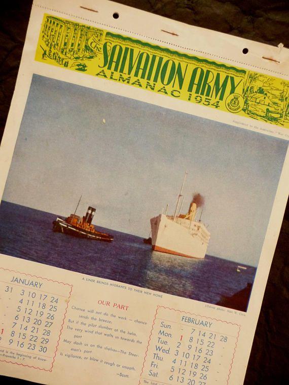 The Salvation Army Almanac 1954 Australian War Cry Supplement
