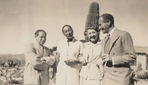 Lion Feuchtwanger and wife Marta and two friends posing in front of a cactus in Mexico, 1941. http://digitallibrary.usc.edu/cdm/ref/collection/p15799coll35/id/11