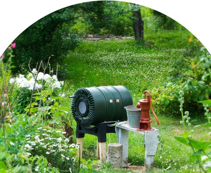 Composteur rotatif écologique fait au Québec. Est-ce mieux un composteur qui s'appuie directement au sol?