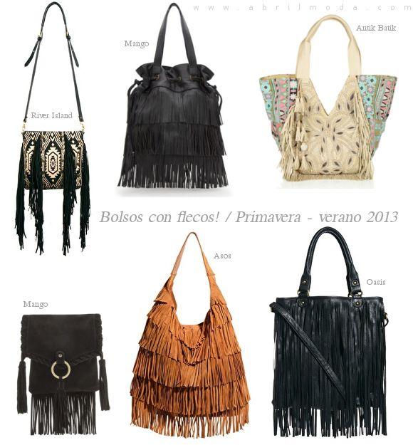 Bolsos con flecos, una tendencia primavera,verano 2013