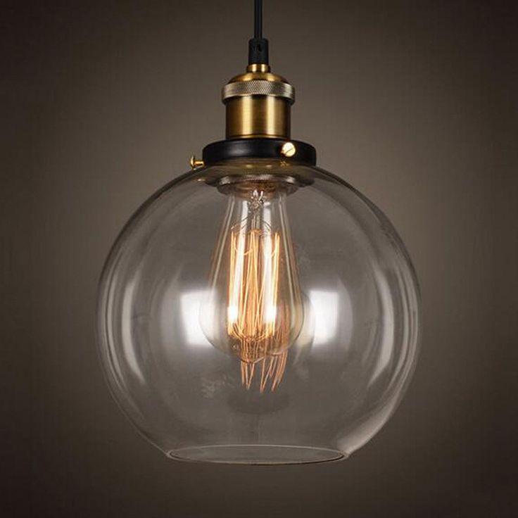 Ретро Винтаж Подвесные светильники ясно Стекло Лампы для мотоциклов мастерил Loft современный Лампы для мотоциклов LED E27 110 В 220 В для столовой дома украшения Освещение