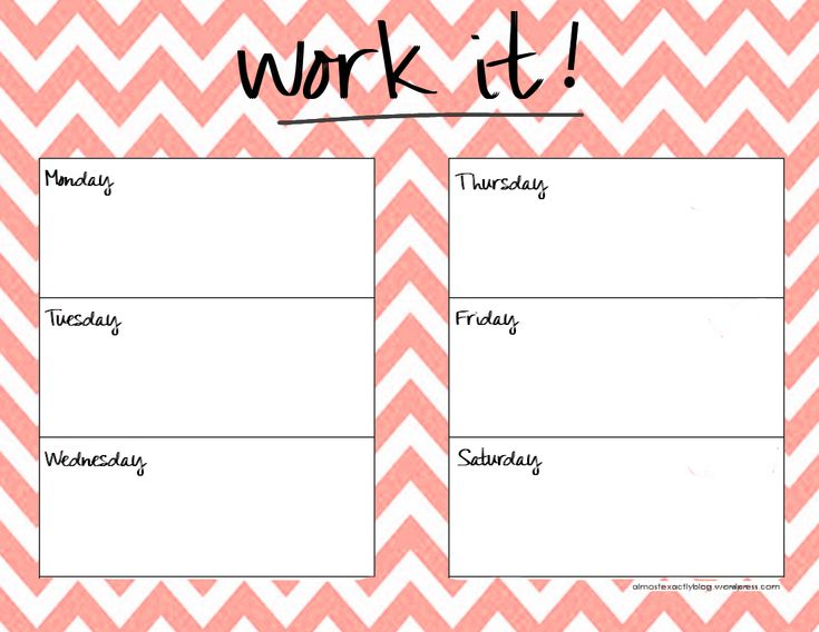 25 best ideas about Weekly Workout Schedule – Exercise Plan Template