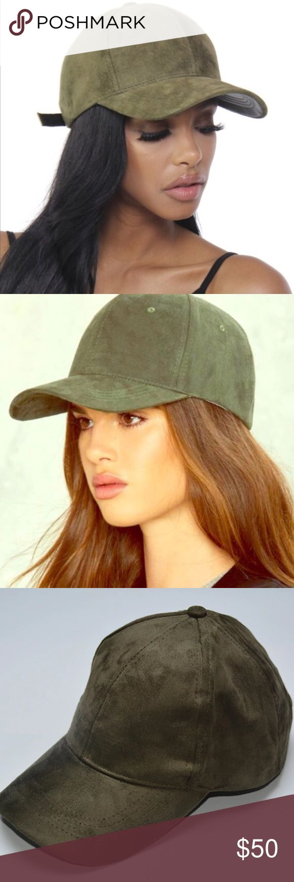 🐢Vegan Suede Baseball Cap🐢 ⚾️ || Olive Suede Baseball Cap || Strap Back|| ⚾️ - PRE-ORDER -  Free Shipping on 🅿️🅿️ -  Item will be available to ship 7-10 Days After Purchase💌📫 -  No Trades! 📌Price is Firm!  -  Not Urban Outfitters only listed under that brand for exposure Urban Outfitters Accessories Hats