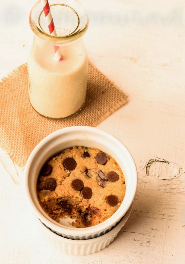 Back to Basics..: One Minute Eggless Chocolate Chip Cookie in a Cup
