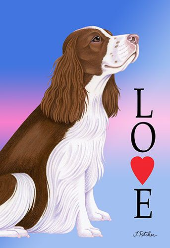 Large Indoor/Outdoor Love (TP) Flag - English Springer Spaniel 60031 in Collectibles, Animals, Dogs | eBay!