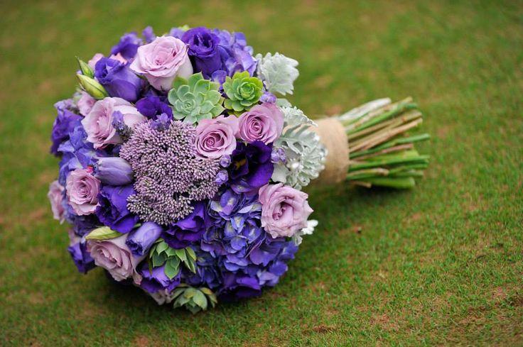 Purple wedding bouquet  Bowral Wedding