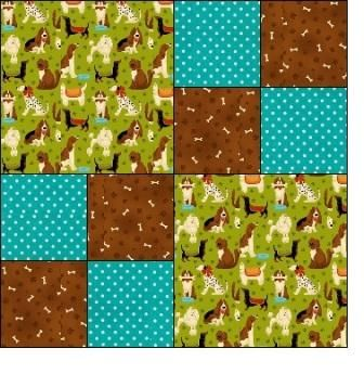 Easy Four Patch Charity Quilt Pattern - Quilting