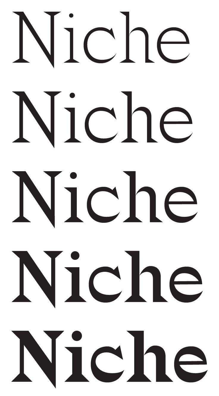 Ellmer Stefan   Type Design: Niche