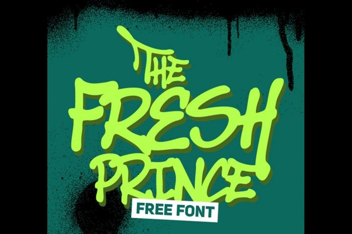 FREE Fresh Prince Font - Personal Use only By TheHungryJPEG