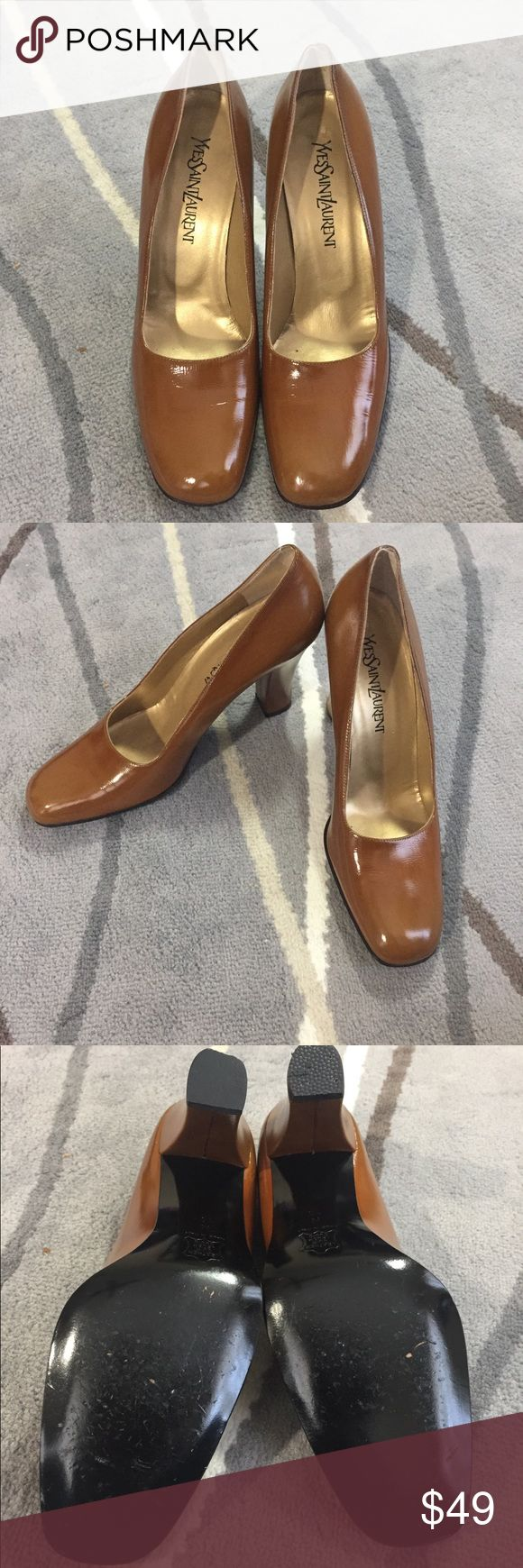Yves Saint Laurent Vintage Tan Brown Pump Heel 10 Excellent condition YSL vintage brown pumps with black bottoms. Heel pad was repaired and have not been worn since. Has minor signs of wear but overall still in excellent condition as seen in photos. Yves Saint Laurent Shoes Heels