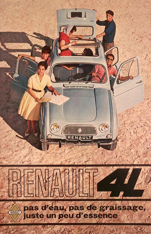 Publicité Renault 4L 1961
