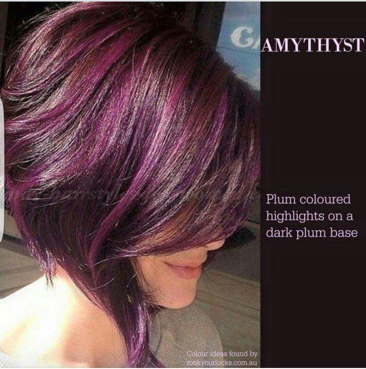 Best 25 plum highlights ideas on pinterest purple highlights hair style amythyst plum coloured highlights on a dark plum base pmusecretfo Choice Image