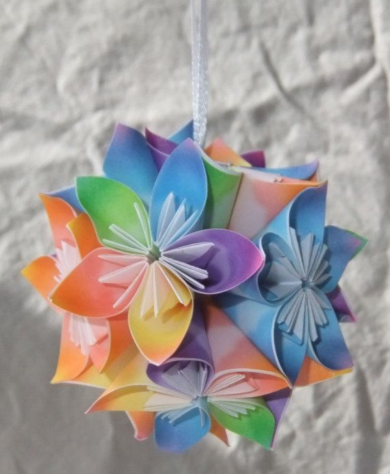 Good Day Sunshine Mini Origami Ornament by Katiemommy on Etsy, $10.00