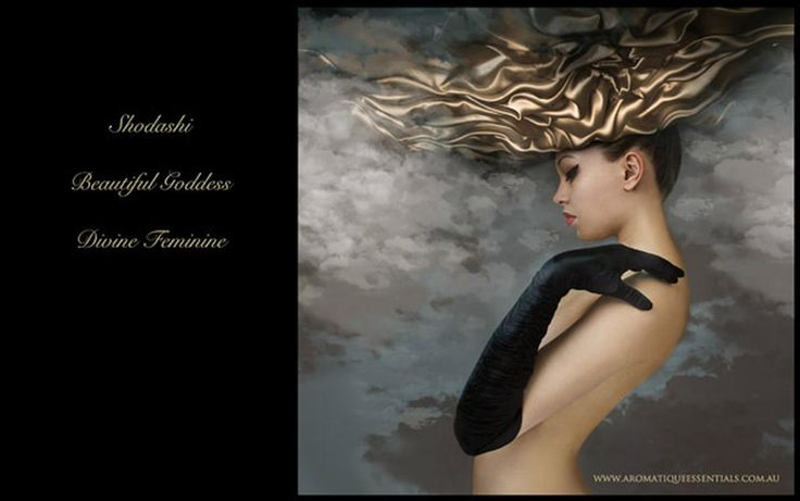 Shodashi handcrafted natural perfume ~ She is the vision of the Divine Feminine.  #Luxury #ValentinesDay #gift #fragrance