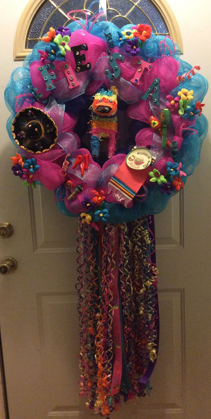 17 Best Images About Wreaths Fiesta On Pinterest Deco