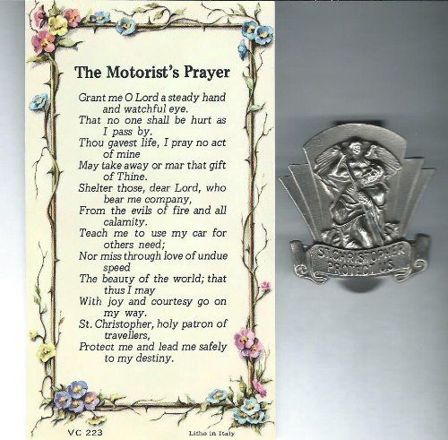 Saint Christopher Auto Visor Clip w Motorists Prayer Card *** More info could be found at the image url.Note:It is affiliate link to Amazon.