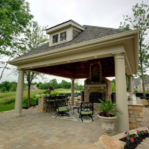 Backyard Pavilion Designs backyard pavilion kits outdoor living room with a fireplace timber frame pavilion kits Outdoor Pavilions Design Ideas Pictures Remodel And Decor Page 31