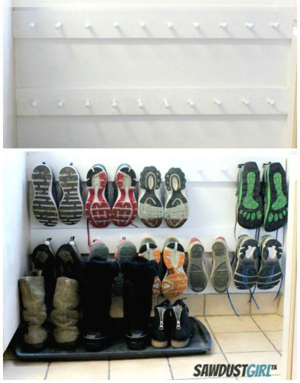 ideias organizar sapatos pouco espaco 7