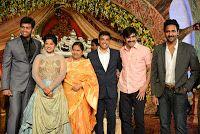 Celebrities at Dil Raju Daughter Hanshitha Wedding Reception Photos, Ramanaidu, Ram Charan-Upasana,Ravi teja, Manchu brothers, Boyapati Srinu, Kajal Agarwal
