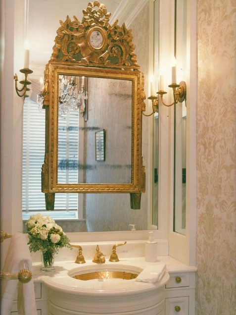 117 best unique mirrors images on pinterest mirror for Small gold framed mirrors