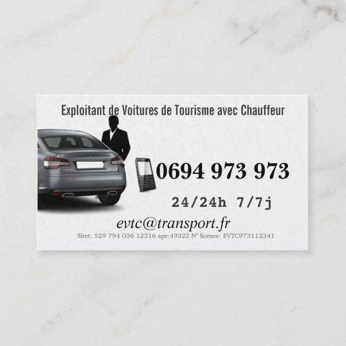 Owner Of Cars Of Transport With Driver Business Card Zazzle Com Business Card Design Business Customizable Business Cards