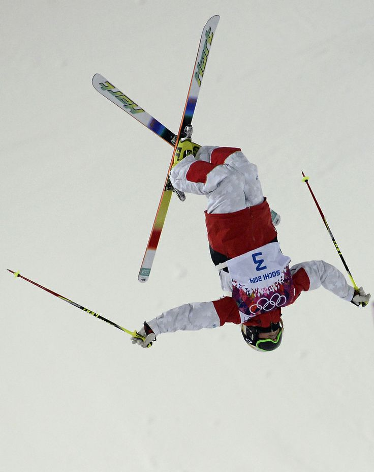 Canada's Chloe Dufour-Lapointe competes during the Women's Freestyle Skiing Moguls finals at the Rosa Khutor Extreme Park during the Sochi Winter Olympics on February 8, 2014. AFP PHOTO / FRANCK FIFE (Photo credit should read FRANCK FIFE/AFP/Getty Images)