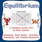This full lesson plan expands on the concepts of the Law of Demand and the Law of Supply by showing how they interact to achieve Equilibrium.