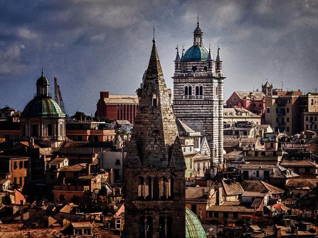 Genova roofs (Italy)