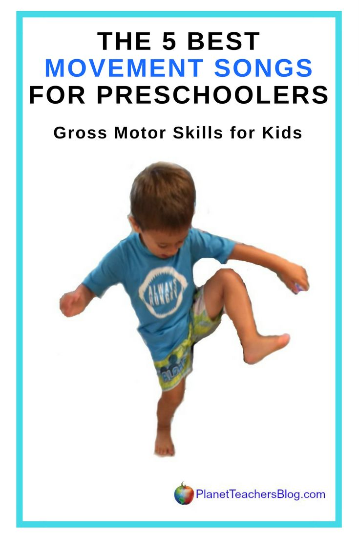 The 5 Best Movement Songs for Preschoolers and Toddlers. Gross Motor Skills for Kids. Rainy day activity. Songs are great for high energy toddlers.
