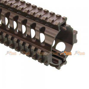 Tokyo Arms Tactical CNC Metal Rail Handguard for KWA Kriss Vector GBB (9inch, TAN) - AirsoftGoGo