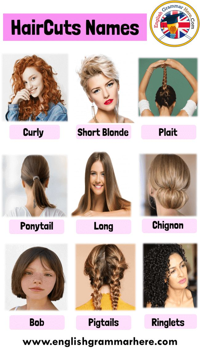 Haircut Names With Pictures For Ladies, Hairstyle Names