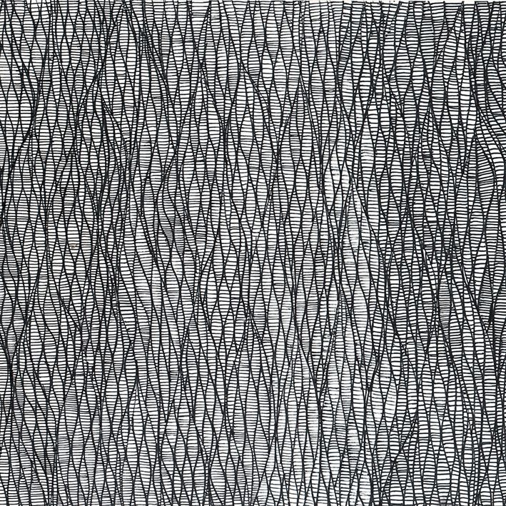 'organic geometry' nr.2 pattern by Kriszti Balla #pattern #patterndesign #surfacepaterndesign #krisztiballa #geometric #bw