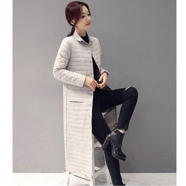 Hiver Femme Maxi Blanc Duvet de Canard Manteau Vin Rouge Bleu Noir gris Longue Puffer Vestes Femmes De Base Vers Le Bas Plume Parka Lady Pardessus