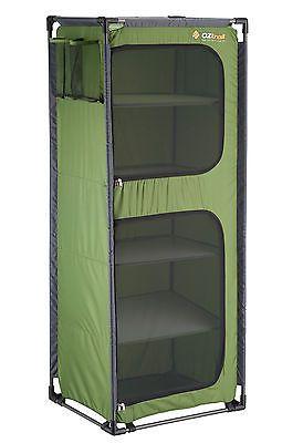OZtrail Folding 5 Shelf Cupboard Camping Storage Outdoors Study Lightweight