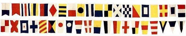 NauticalDecorStore - 44 Foot Cotton Yachting Signal Flag Dress Line, $84.90 (http://www.nauticaldecorstore.com/flags/44-foot-cotton-yachting-signal-flag-dress-line/)