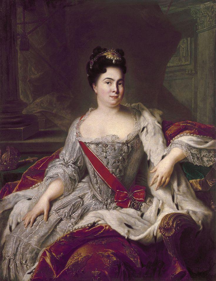* Retrato da Imperatriz Catarina I da Rússia *  Marta Helena Skavronska, * 15/Abril/1684 - 17/Maio/1727). Esposa de Pedro I da Rússia. (by Jean-Marc Nattier).