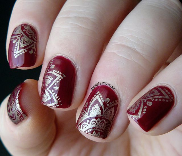 195 best stamped nails born pretty plates images on pinterest polish my nail odrobina indii a little bit of india prinsesfo Gallery