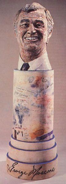 George Moscone bust - Robert Arneson