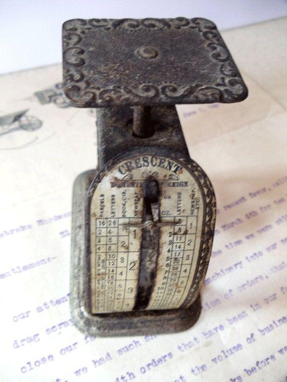 Antique CRESCENT Letter Scale by Pelouze by UrbanRenewalDesigns