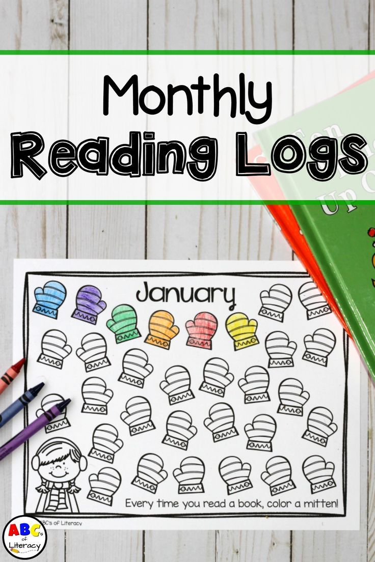 These Monthly Reading Logs will making reading at home fun for your students as they take charge of tracking the number of books that they read every month. Monthly Reading Logs | Reading Logs | Preschool Homework | Kindergarten Homework