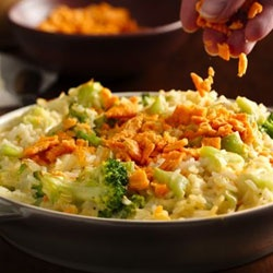 Creamy Cheese-Broccoli Rice Bake Allrecipes.com
