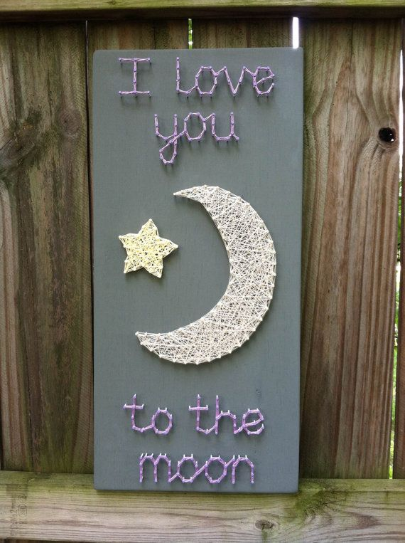I Love You To The Moon String Art Wall Art Nursery